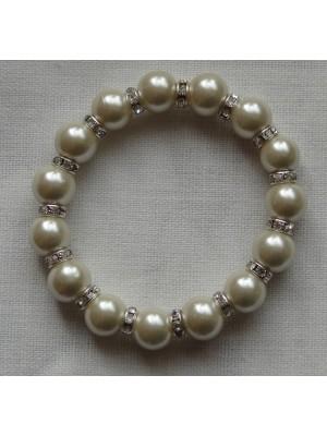 Gelsvų perlų su skaidriais intarpais apyrankė