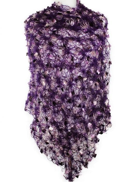 Puošnus šalikas, violetinis