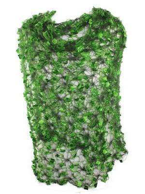 Puošnus šalikas, skraistė, žalias