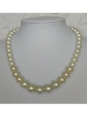 Pieno spalvos perlų vėrinys, karoliai