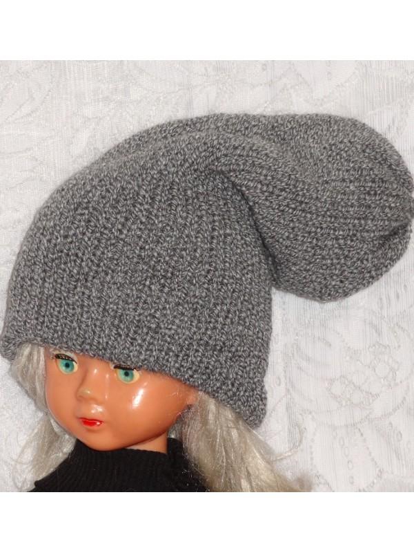Dviguba šilta pilka kepurė