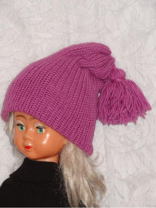 Ilga dviguba violetinė kepurė