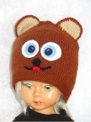 Rudo meškiuko kepurė