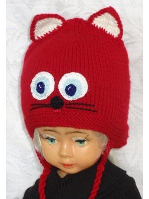 Katinas raudonas kepurė