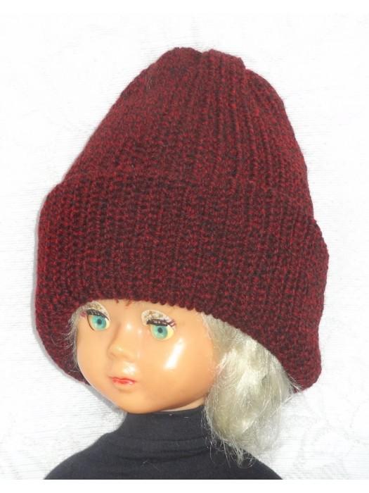 Ilga dviguba bordo melanžas kepurė