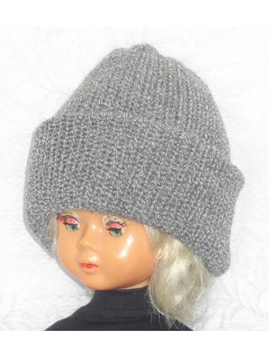 Dviguba šilta pilko melanžo kepurė