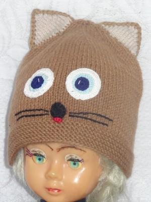 Gelsvai juoda kepurė katinas
