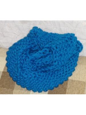 turkio spalvos, mėlynas  O formos šalikas snoodas