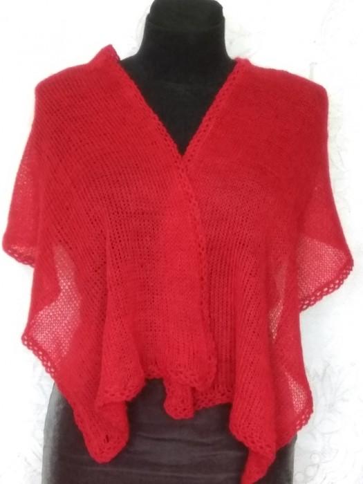 tankesnio mezgimo raudonas mocherio šalikas