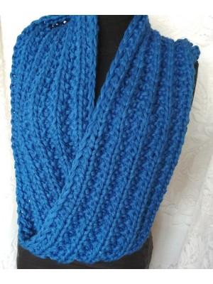 Mėlynas šalikas snoodas