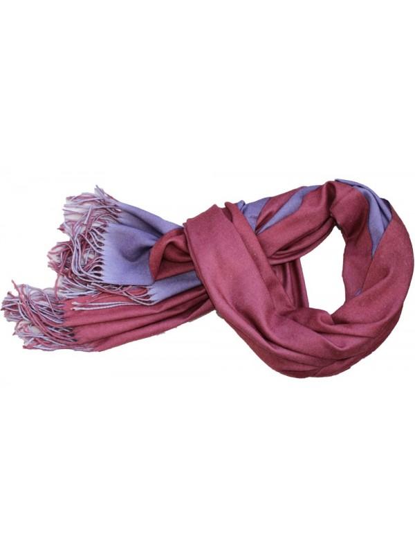 Dvipusis šalikas, bordo, violetinis