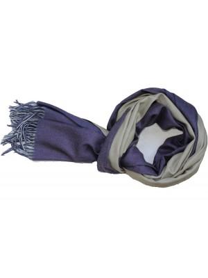 Dvipusis šalikas, violetinis, smėlinis