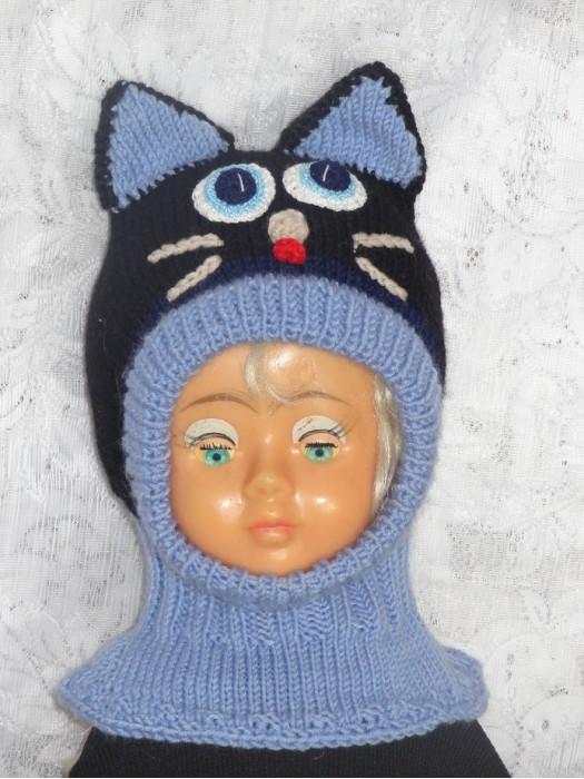 Kepurė šalmas Mėlynas katinas su juodu