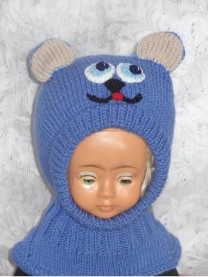 Kepurė šalmas: Mėlynas meškis