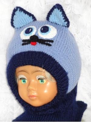 Kepurė šalmas: Mėlynas žydras  katinas