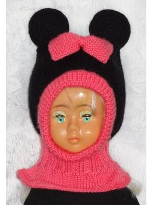 Kepurė šalmas: Rožinė pelytė
