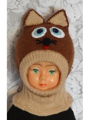 Kepurė šalmas: Rudas katinas