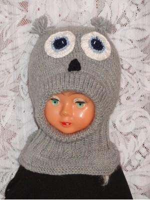 Pilkas pelėdžiukas kepurė šalmas