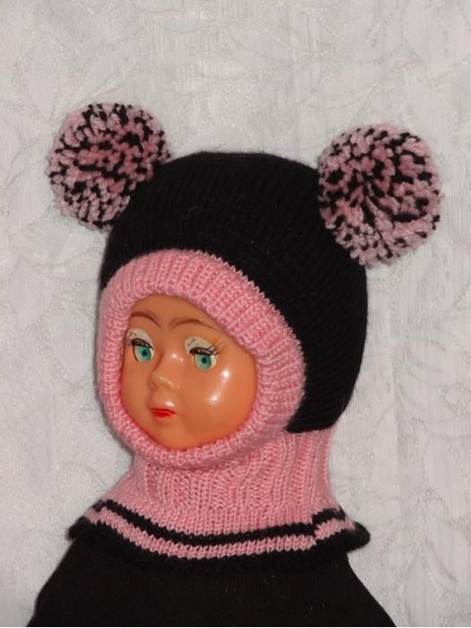 Juodai rožinė kepurė šalmas mergaitei