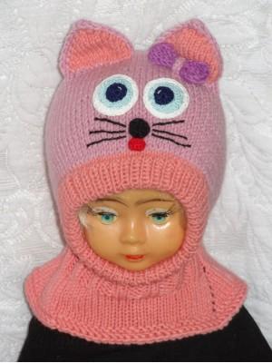 Kepurė šalmas mergaitei - Violetinė katytė