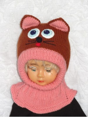 Kepurė šalmas Ruda katytė