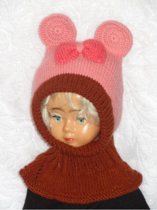 Kepurė šalmas mergaitei: Rožinė pelytė