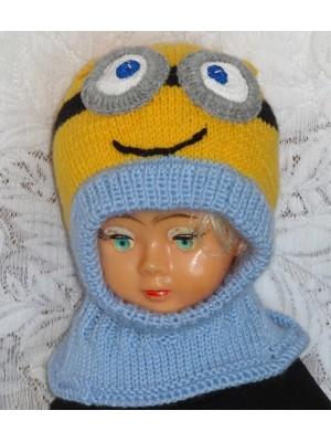 Geltoniukas su dviem akytėm Kepurė šalmas