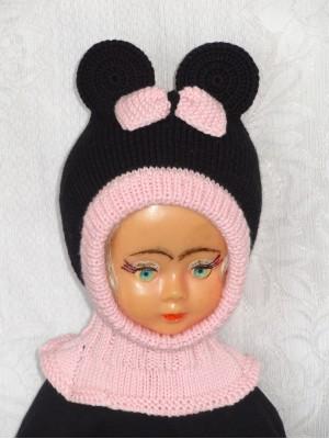 Merino vilnos kepurė šalmas Pelytė