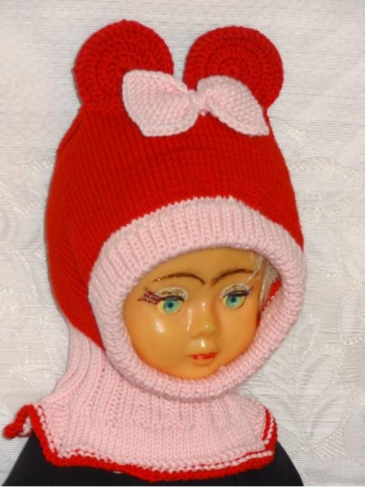 Merino vilnos kepurė šalmas Raudona pelytė