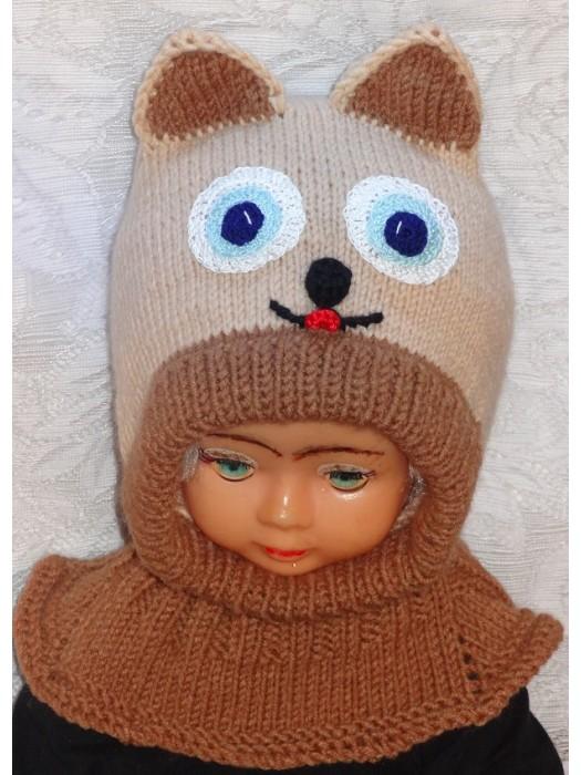 Kepurė šalmas Šviesiai rudas katinas