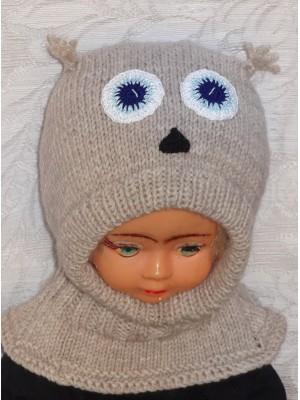 Pelėdžiukas pilkas kepurė šalmas