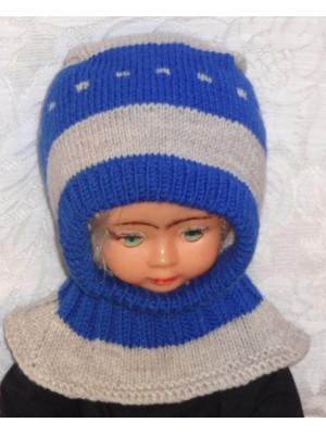 Mėlynai pilka kepurė šalmas