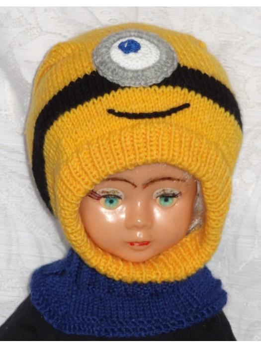 Geltoniukas su viena akyte Kepurė šalmas