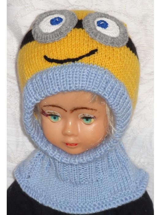 Geltoniukas su dviem akytėm, mėlynas Kepurė šalmas