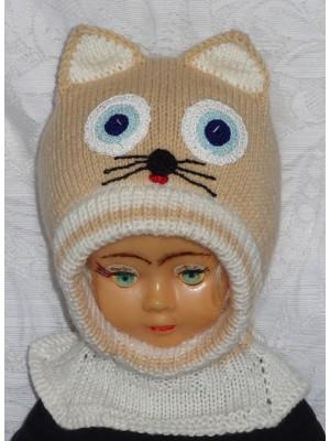 Rusvas katinas kepurė šalmas