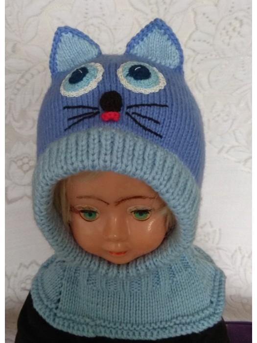 Mėlynas kačiukas šalmas