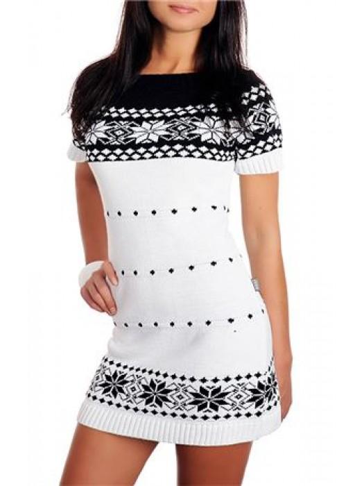 Baltas megztinis, liemenė, ilgas megztinis trumpomis rankovėmis